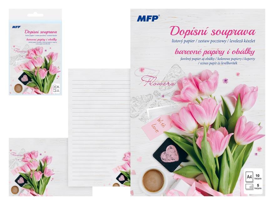 listový papier farebný LUX 5+10 (Kvety) 5550286