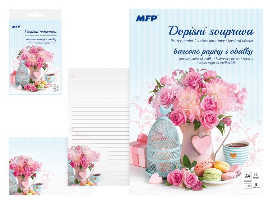 listový papier farebný LUX 5+10 (Kvety) 5550287