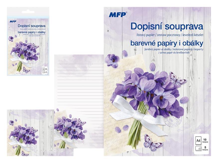 Listový papier farebný LUX 5+10 (Kvety)