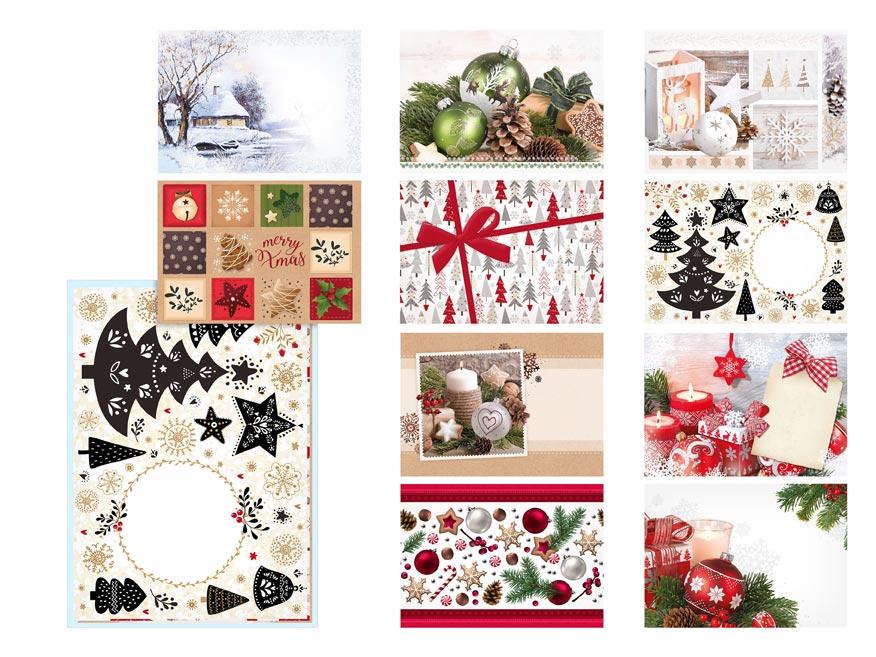 listová obálka C5 vianočná (mix) 5550291