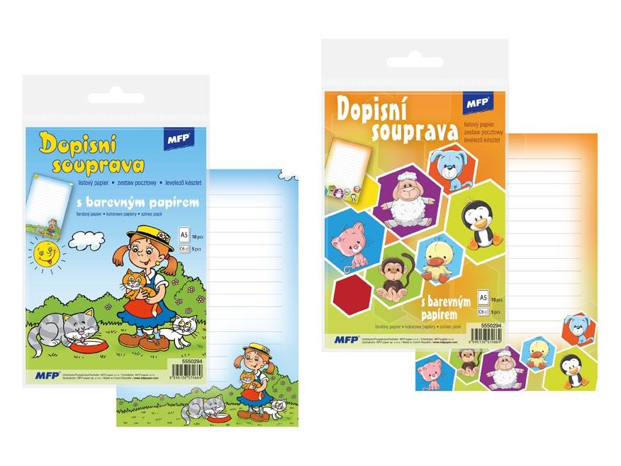 listový papier farebný 5+10 (detský) 5550294