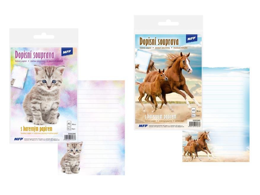 listový papier farebný 5+10 (zvířata) 5550295