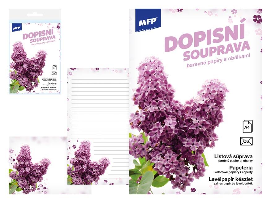 listový papier farebný LUX 5+10 (Kvety) 5550297