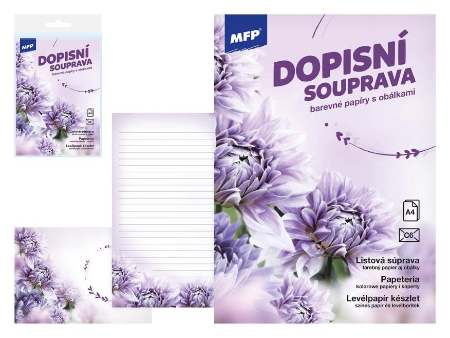 listový papier farebný LUX 5+10 (Kvety) 5550299