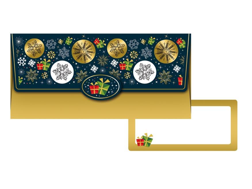 obálka na peniaze vianočná 88- 022 5560002