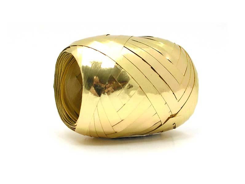 Stuha viazacia 20m metal zlatá 9312