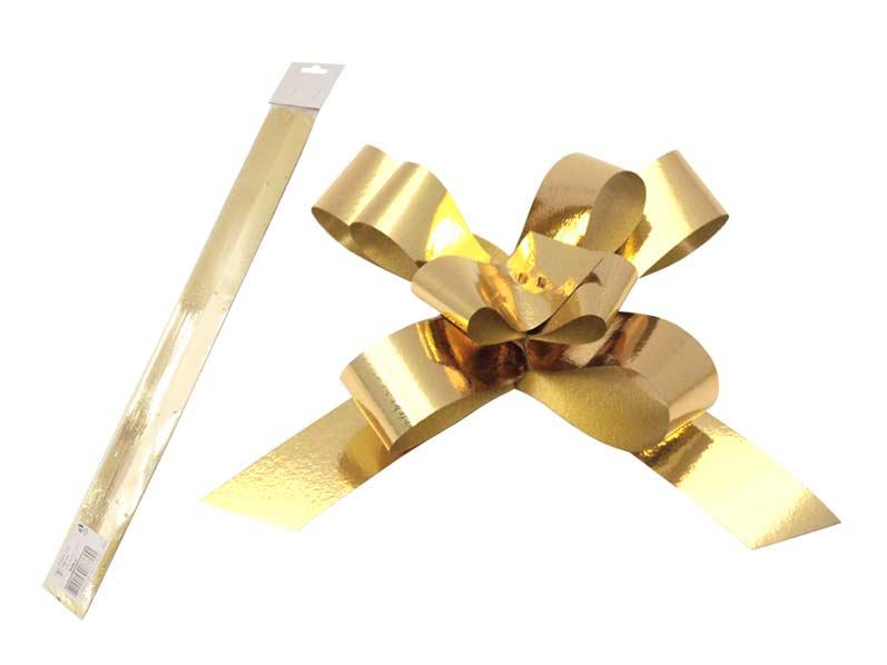 Stuha sťahovacia zlatá metal 2/50
