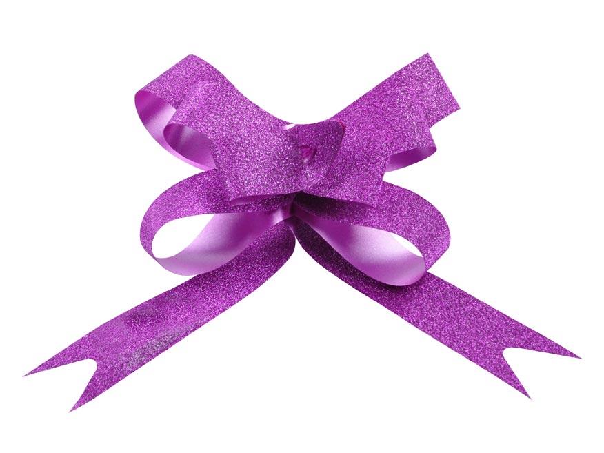 stuha sťahovacia fialová gliter 1,9/50 5660257