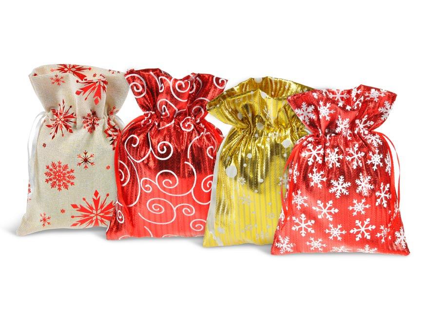 vrecko textil vianočné 12x14cm mix 5800722