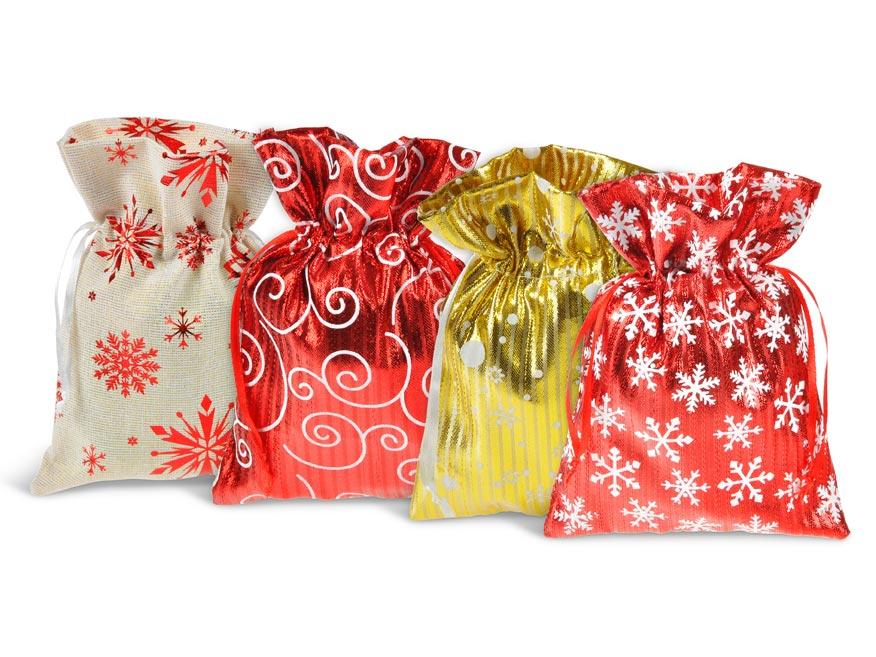 vrecko textil vianočné 13x18cm mix 5800723