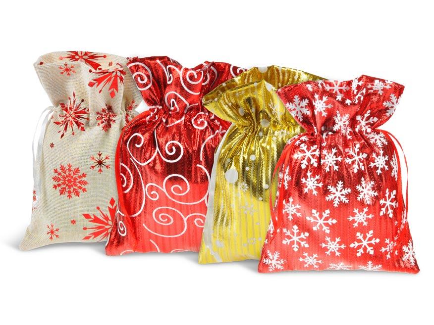 vrecko textil vianočné18x23cm mix 5800724
