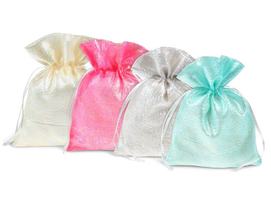 vrecko textil perleť 10x12cm mix barev 5800726