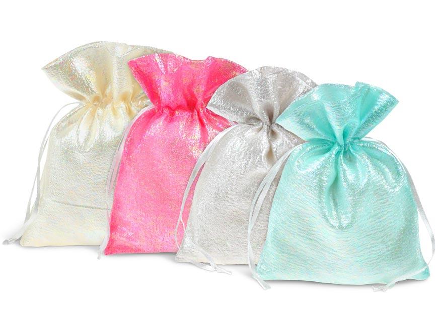 vrecko textil perleť 13x18cm mix barev 5800727