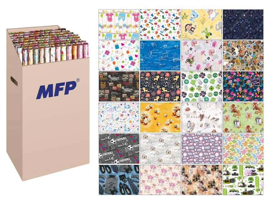 Baliaci papier rolky 2x100x70 LUX MIX