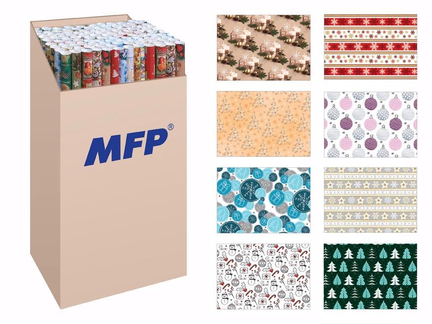 Baliaci papier vianočný rolky LUX 2x100x70 MIX