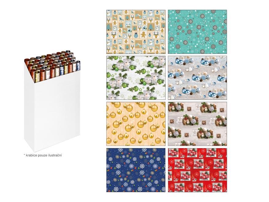 baliaci papier vianočný rolky klasik 2x100x70 MIX 5810686