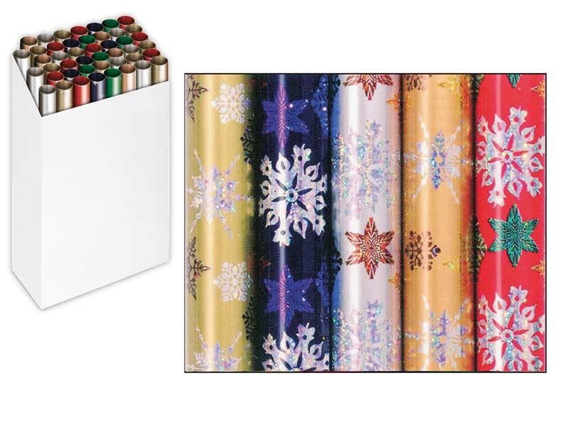 Baliaci papier vianočný rolky Snow Crystal Holography 150x70