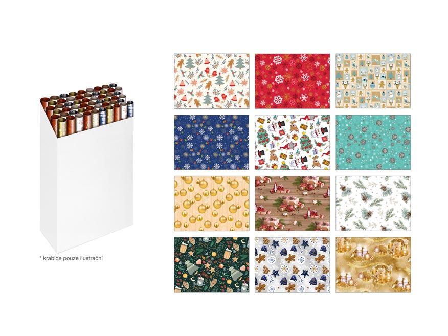 Baliaci papier vianočný rolky klasik 5x100x70 MIX