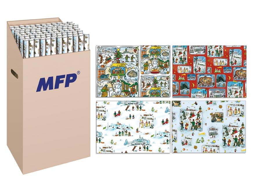 baliaci papier vianočný rolky klasik LADA 2x100x70 5811132