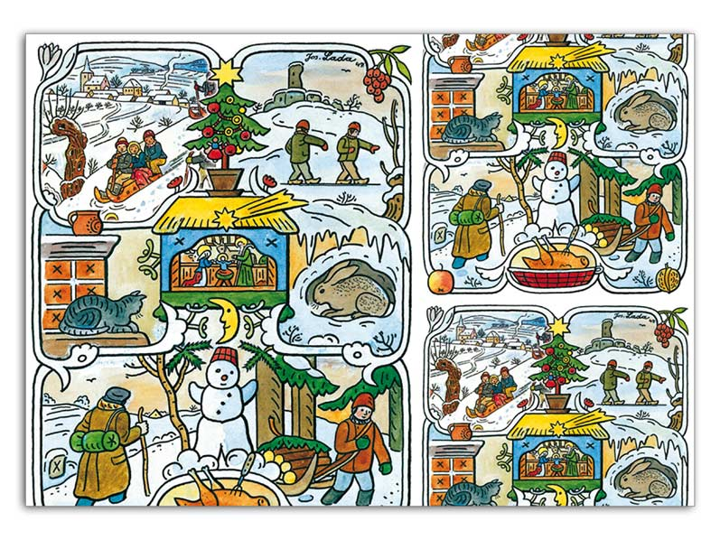 baliaci papier vianočný klasik Lada 2 100x70 5811159