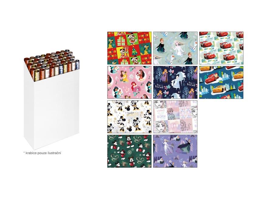 Baliaci papier vianočný rolky LUX DISNEY 2x100x70 MIX