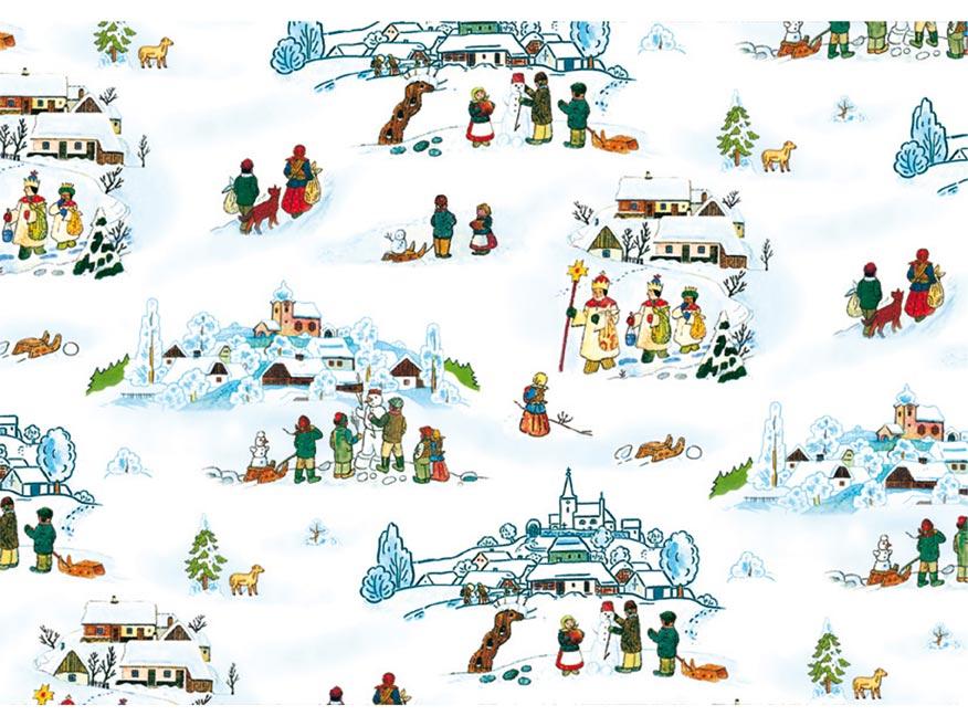Baliaci papier vianočný klasik Lada 3 100x70