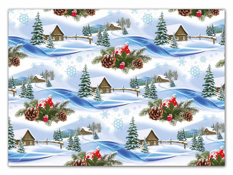 Baliaci papier vianočný klasik V164 100x70