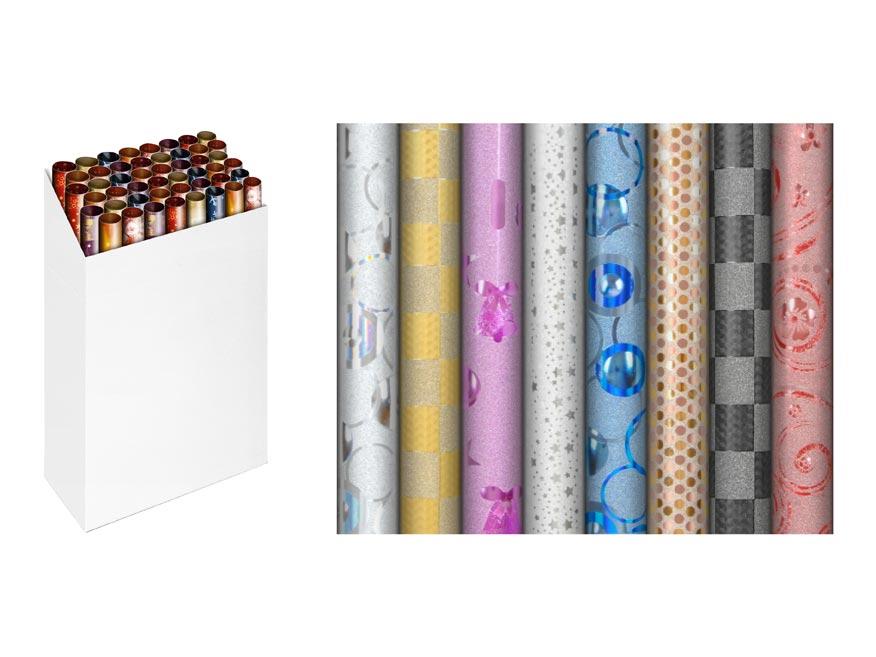 baliaci papier rolky gliter 150x70cm 5811255