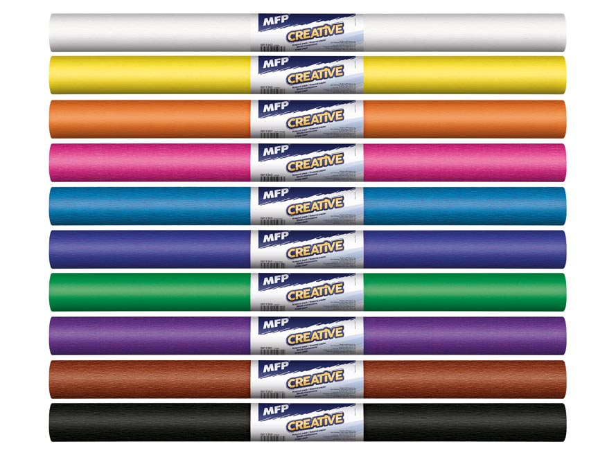 Krepový papier rolka 50x200cm mix farieb základná