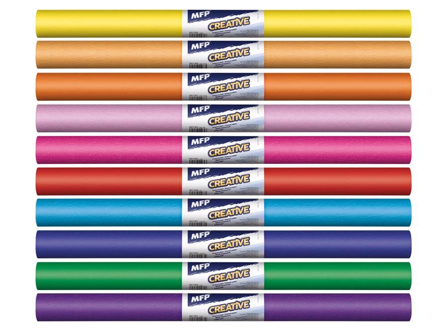 Krepový papier rolka 50x200cm mix farieb dúhový