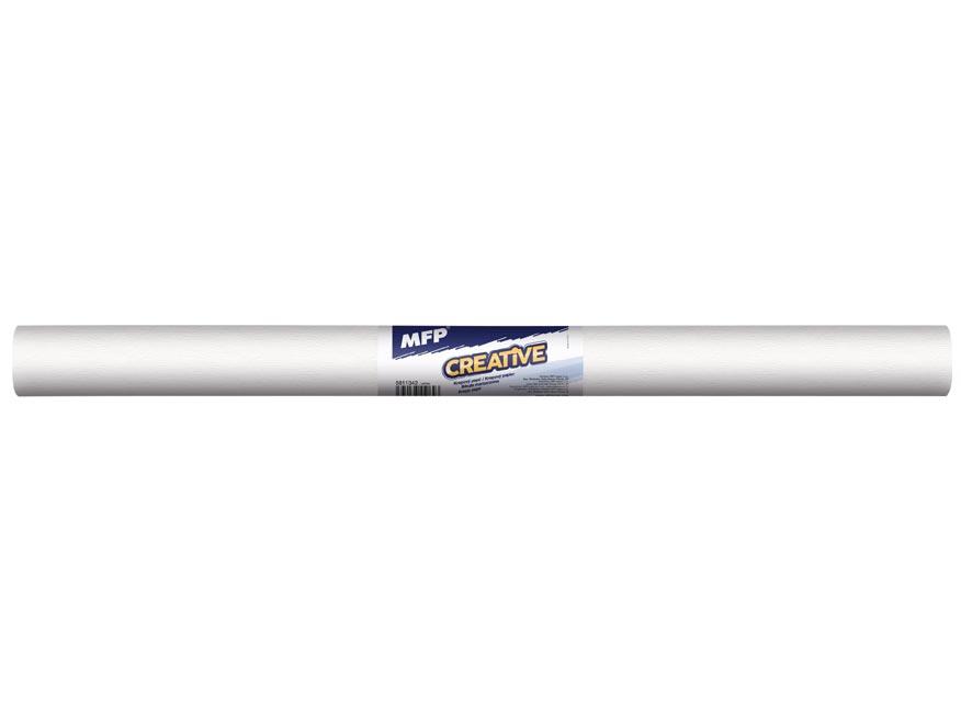 Krepový papier rolka 50x200cm biely