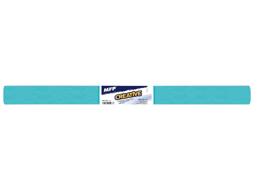 krepový papier rolka 50x200cm modrý 5811347