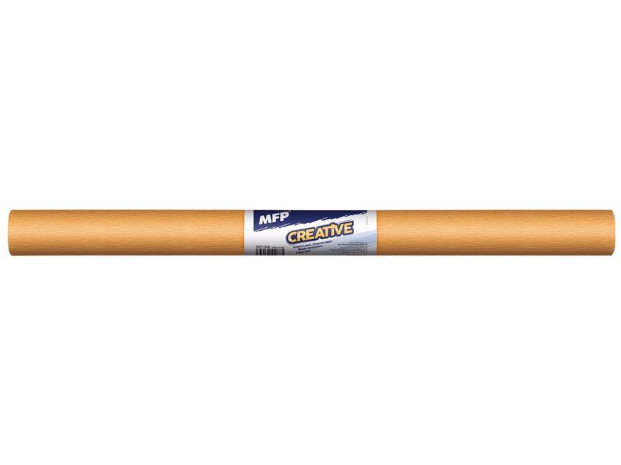 Krepový papier rolka 50x200cm oranžový svetlý