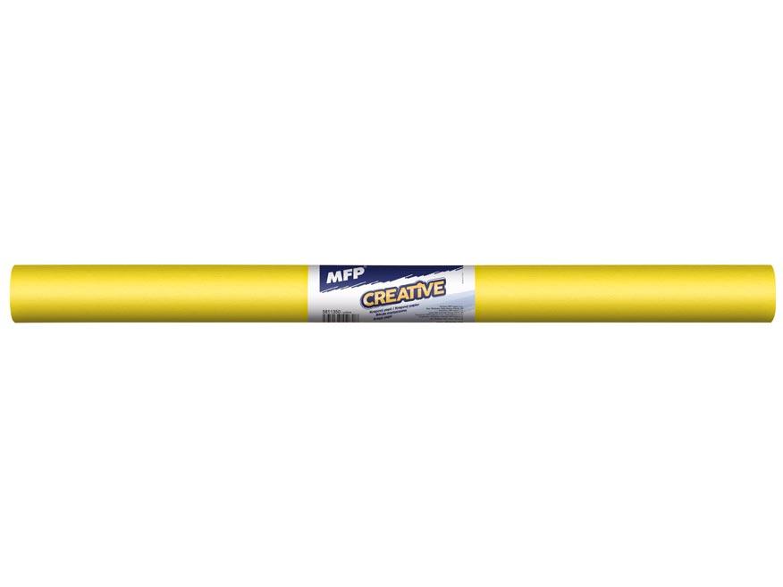 krepový papier rolka 50x200cm žltý 5811350