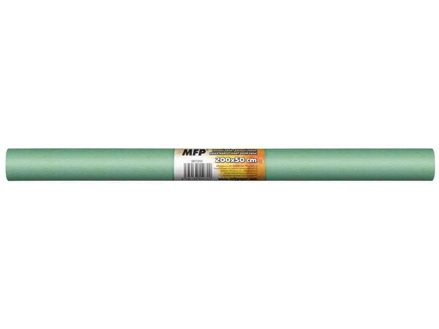 krepový papier rolka 50x200cm zelený svetlý 5811352