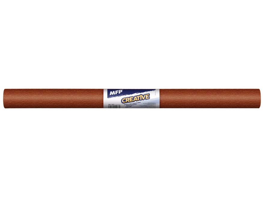 Krepový papier rolka 50x200cm hnedý tmavý