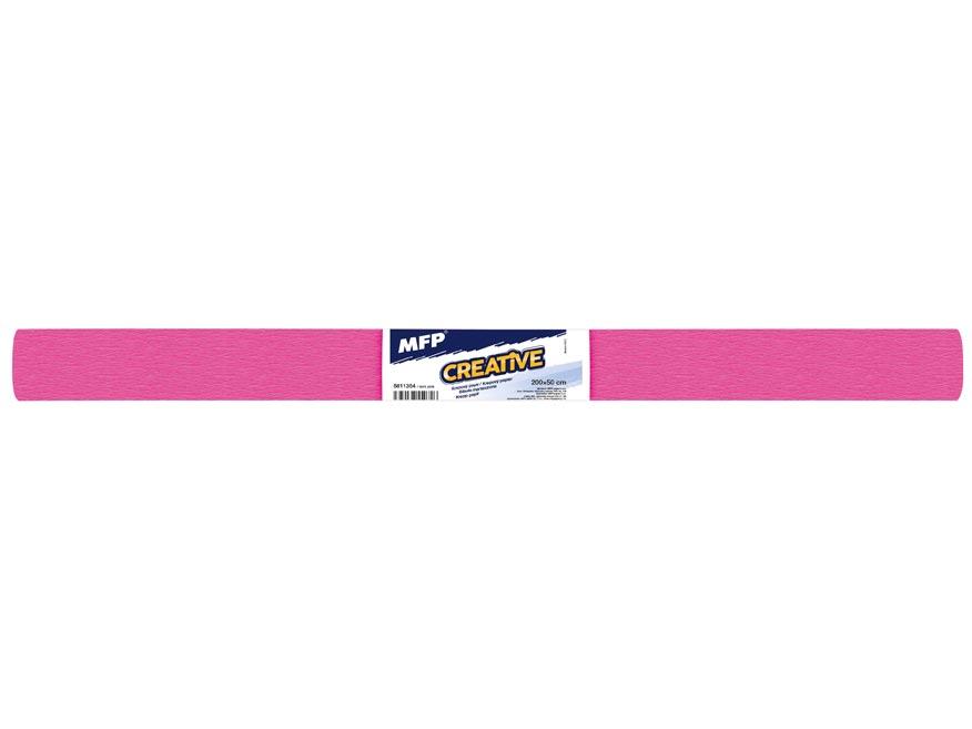 Krepový papier rolka 50x200cm ružový tmavý