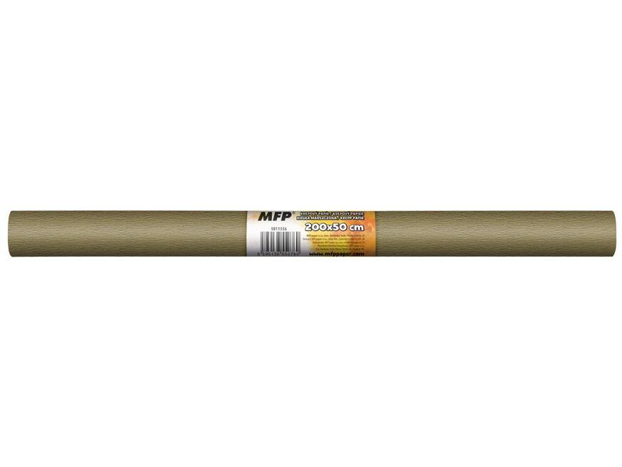 krepový papier rolka 50x200cm hnedý svetlý 5811356