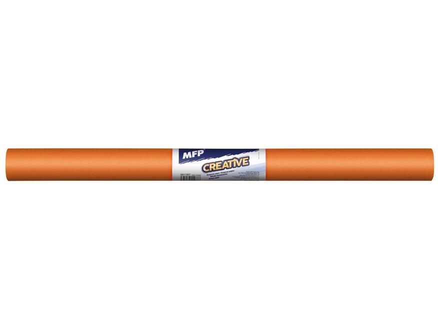 Krepový papier rolka 50x200cm oranžový tmavý