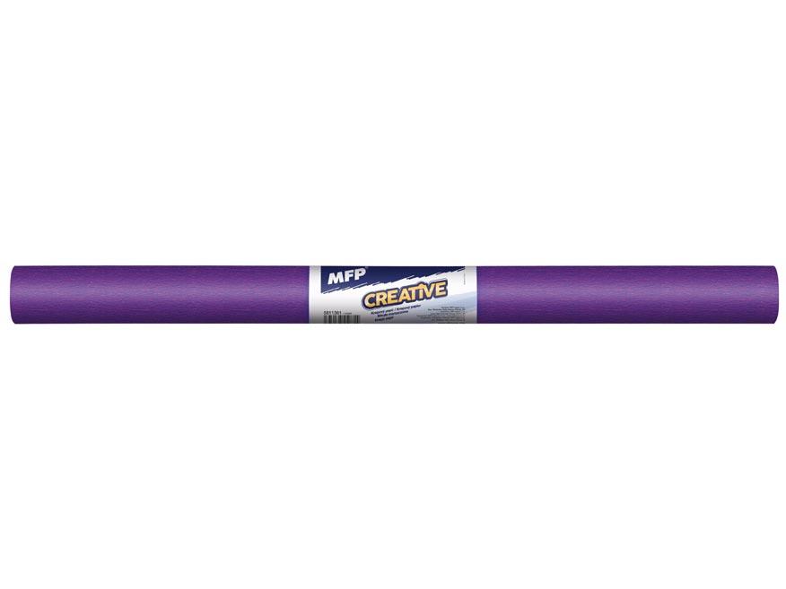 Krepový papier rolka 50x200cm fialový
