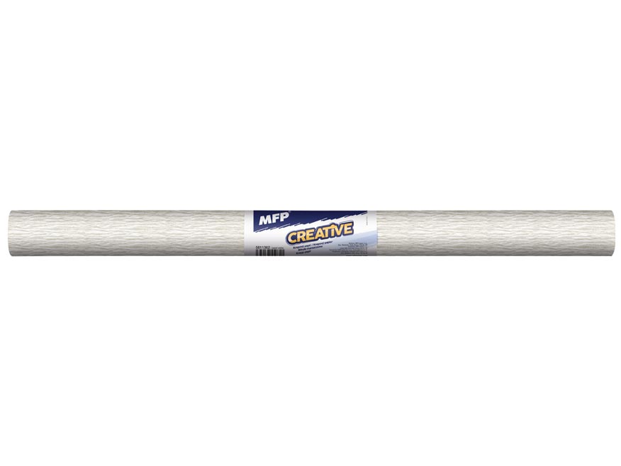 Krepový papier rolka 50x200cm perleťový biely