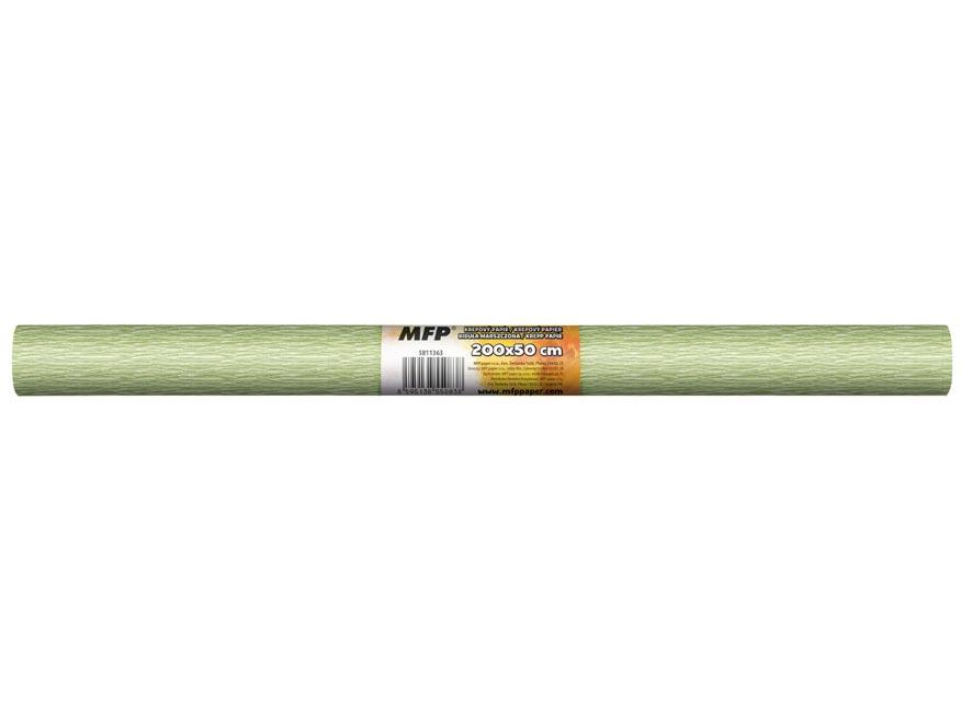 Krepový papier rolka 50x200cm perleťový zelený