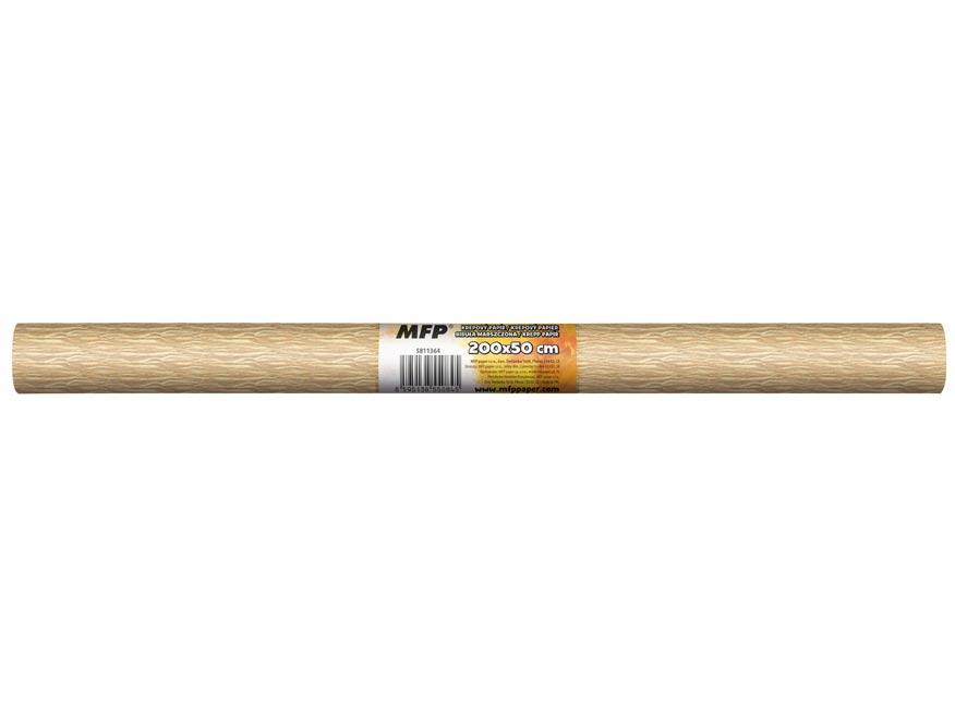Krepový papier rolka 50x200cm perleťový béžový