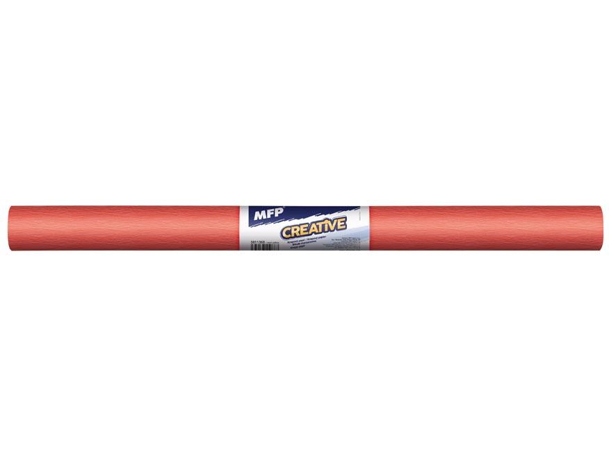 Krepový papier rolka 50x200cm neón oranžový