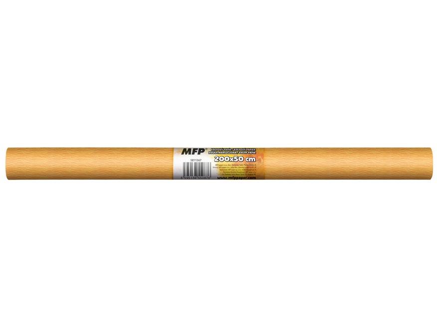 Krepový papier rolka 50x200cm neón oranžový svetlý