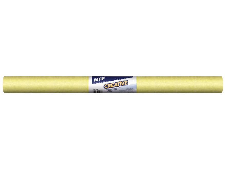 krepový papier rolka 50x200cm neón žltý 5811368