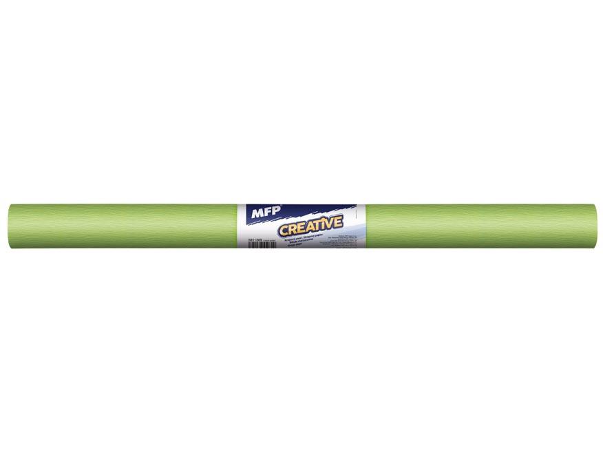Krepový papier rolka 50x200cm neón zelený