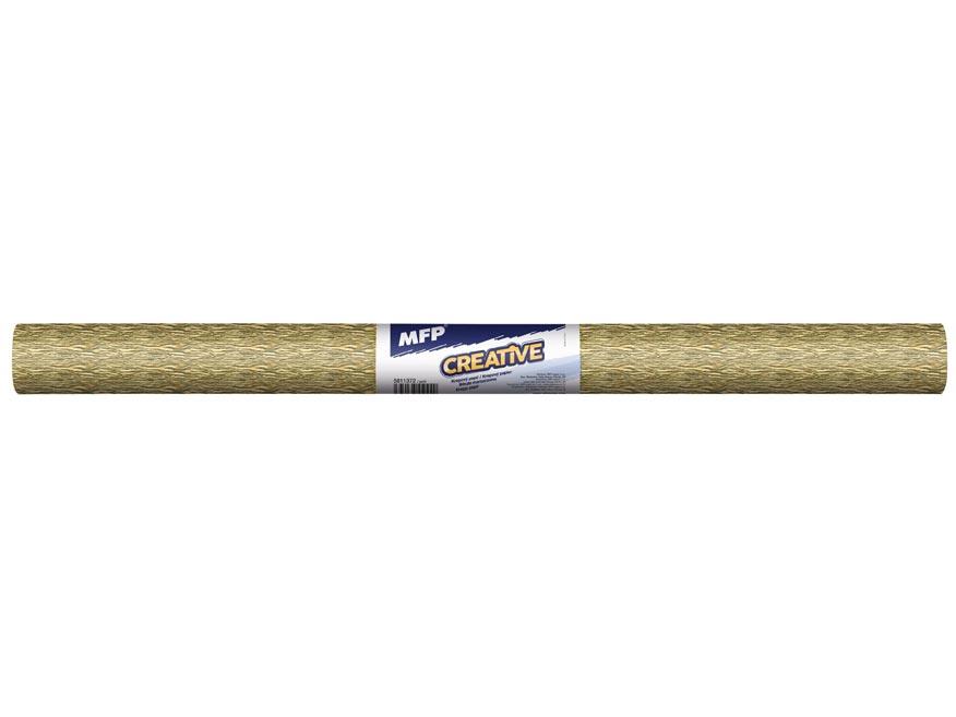 Krepový papier rolka 50x200cm zlatý