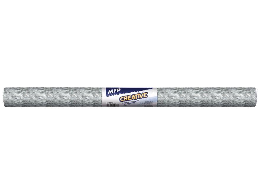 Krepový papier rolka 50x200cm strieborný