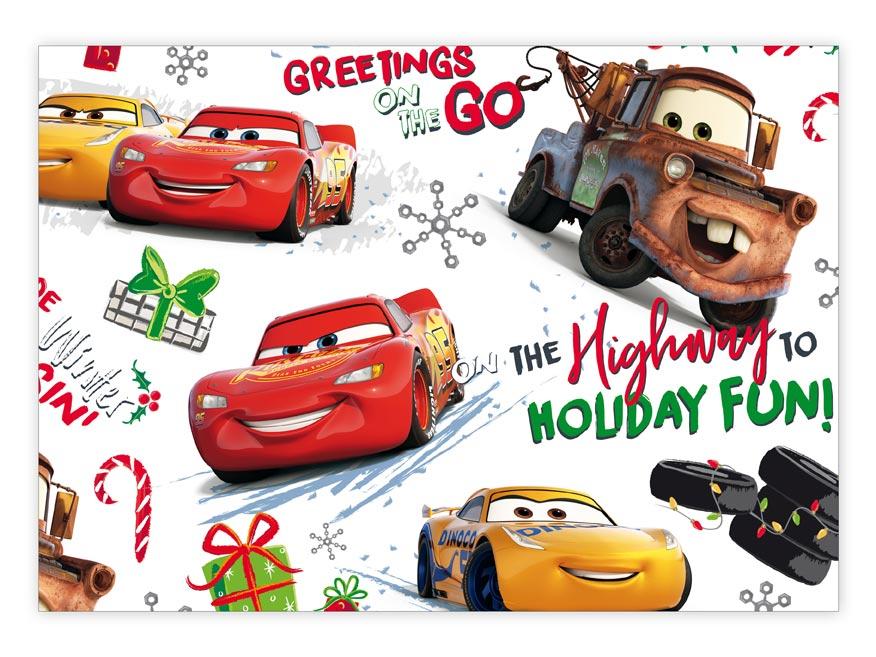 Baliaci papier vianočný LUX YV021 Disney (Cars)